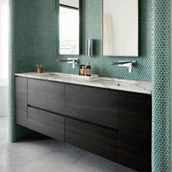 floating vanity bathroom storage ideas