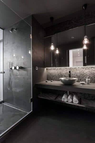 Stunning Interior Black Bathroom Designs