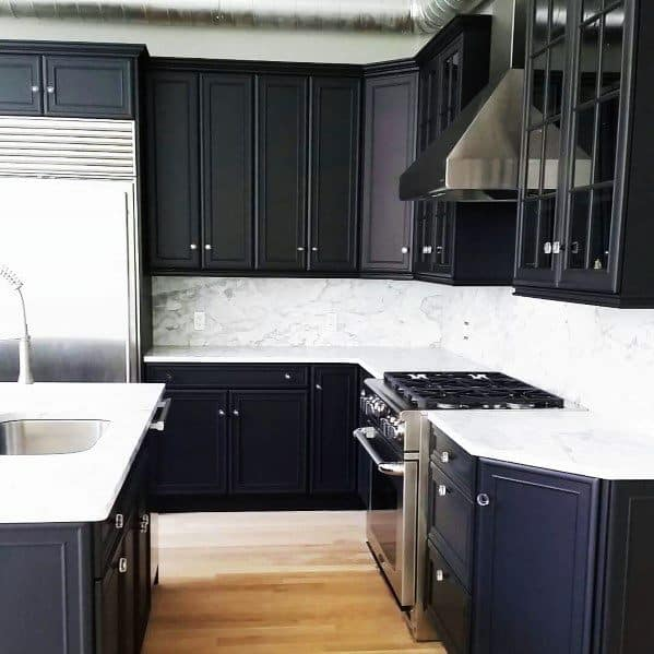 Top 50 Best Black Kitchen Cabinet Ideas - Dark Cabinetry ...