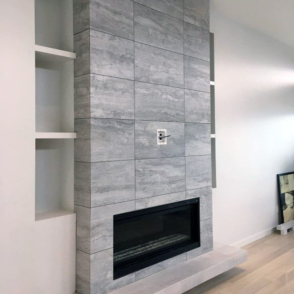 Stunning Interior Fireplace Ceramic Tile Designs
