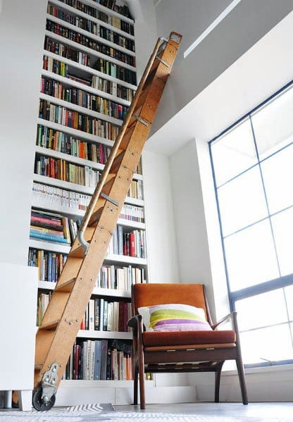 Stunning Interior Floor To Ceiling Bookshelves Designs