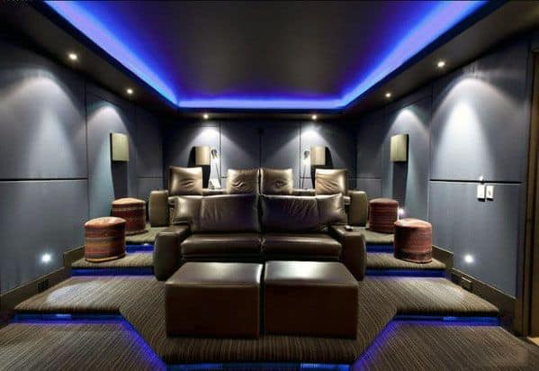 Stunning Interior Home Theater Lighting Designs