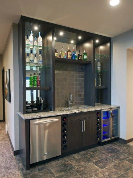Attractive Stunning Interior Ideas For Wet Bar Design