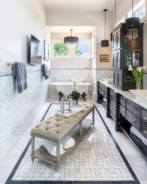 marble tile bathroom floor tile ideas
