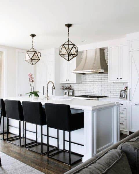 Stunning Interior White Kitchen Designs