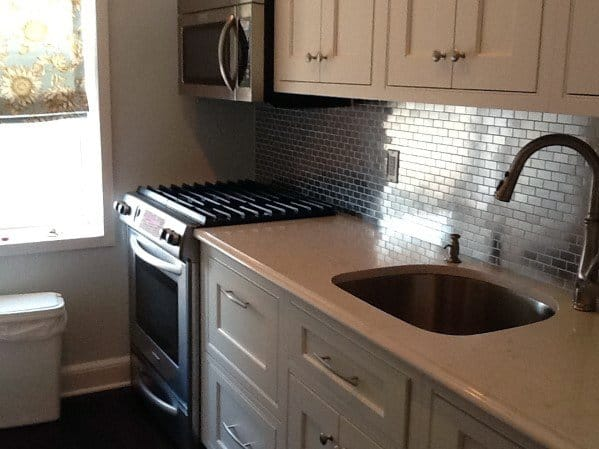 Stunning Kitchen Metal Backsplash Designs