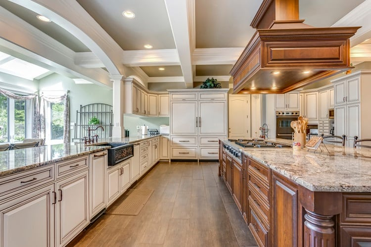 Stunning Kitchen Room Coffered Ceiling