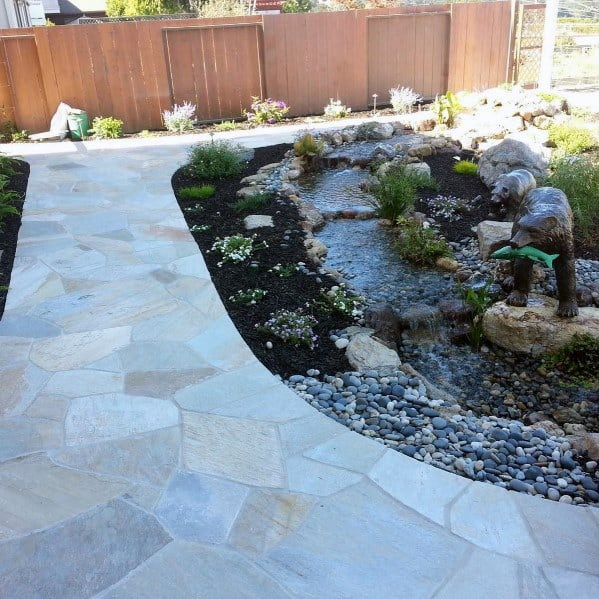 Stunning Outdoor Flagstone Walkway Designs