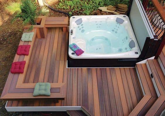 Stunning Outdoor Hot Tub Deck Designs
