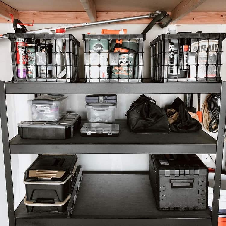 Sturdy Black Garage Storage Rack Istackliving