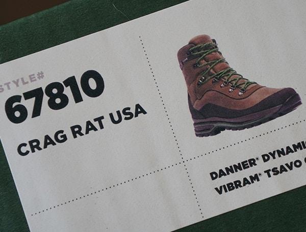 Style 67810 Danner Crag Rat Mens Hiking Boots