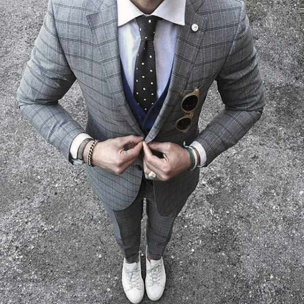 Style Grey Suit Looks Males