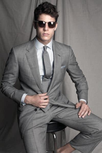 Style Grey Suit Looks Men