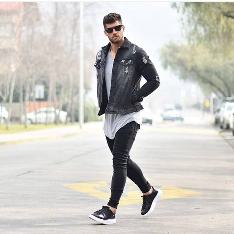 Style Man Denim Jacket Outfit