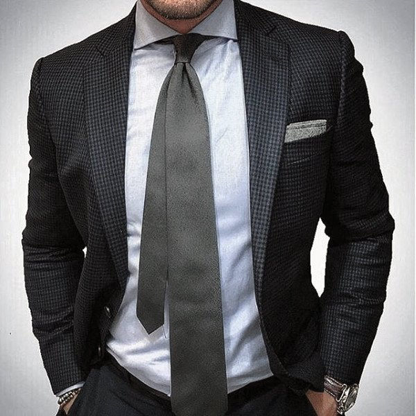 Style Navy Blue Suit Looks Males