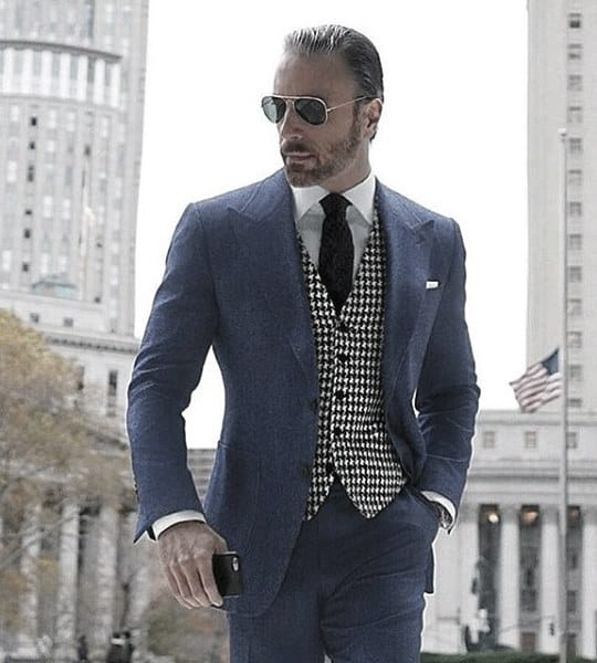 Style Navy Blue Suit Looks Men