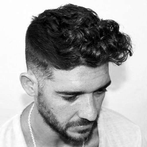 Stylish Curly Fade Hairstyle For Men With Thick Hair