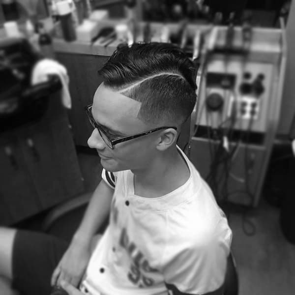 Stylish Guys Fade Comb Over Hairstyle