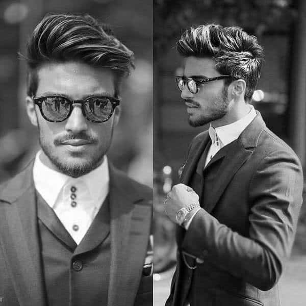 Stylish Guys Medium Length Thick Hair