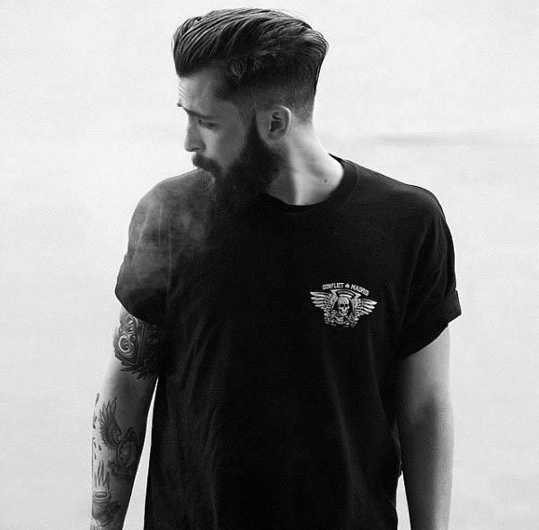 Stylish Low Fade Mens Haircut