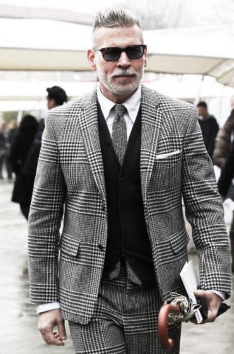 Stylish Male Grey Beard Ideas