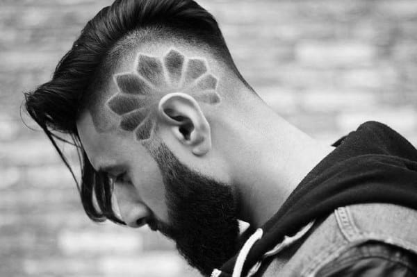 Stylish Male Long Hair With Undercut Design On Sides