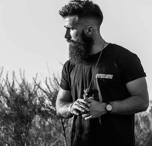 Stylish Medium High Fade Hairstyles For Men With Beards