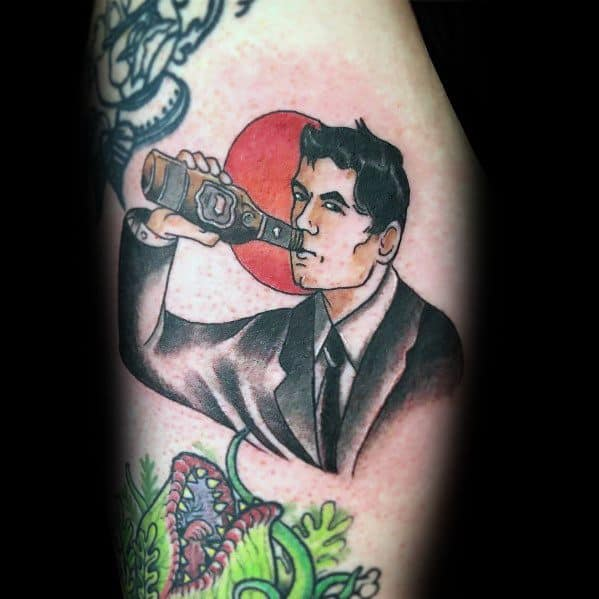 Stylish Mens Archer Tattoos On Leg