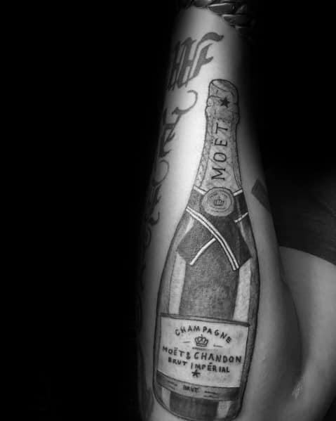 Stylish Mens Champagne Tattoos