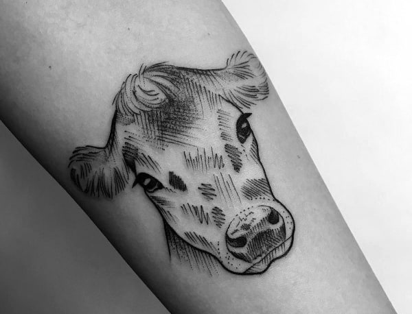 Stylish Mens Cow Tattoos