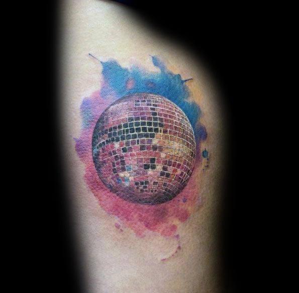 Stylish Mens Disco Ball Tattoos