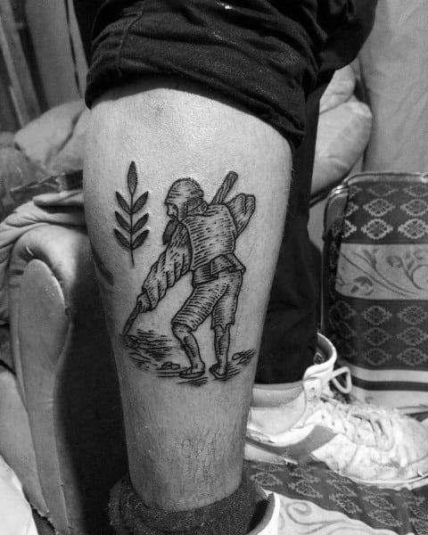 Stylish Mens Farming Tattoos