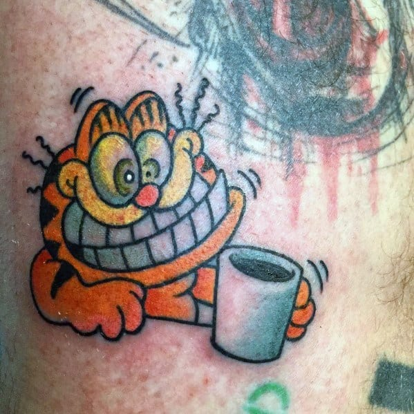 Stylish Mens Garfield Tattoos