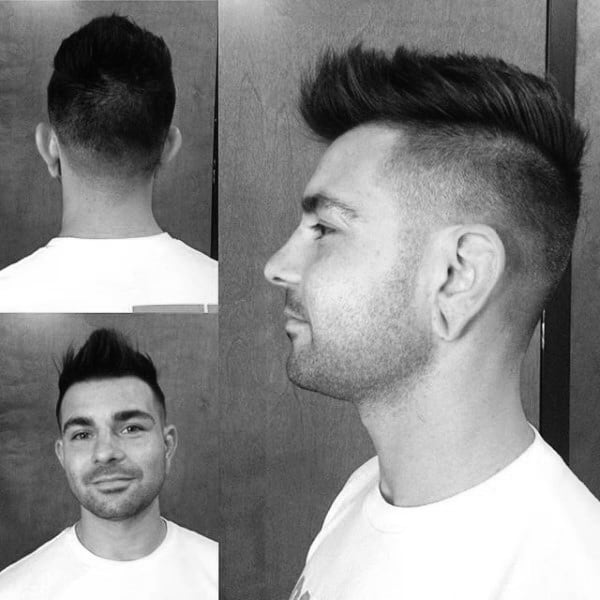 Stylish Mens Hairstyle Skin Fade Faux Hawk