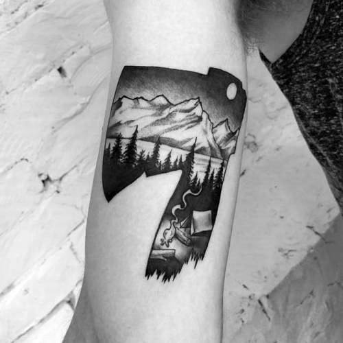 Stylish Mens Hatchet Tattoos