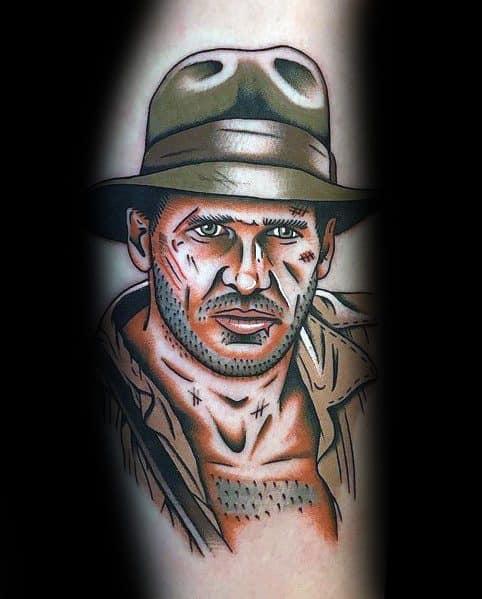 Stylish Mens Indiana Jones Tattoos