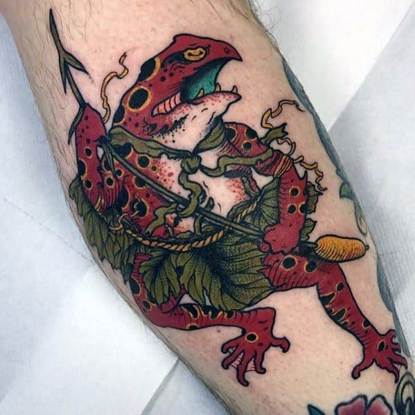 Stylish Mens Japanese Frog Tattoos