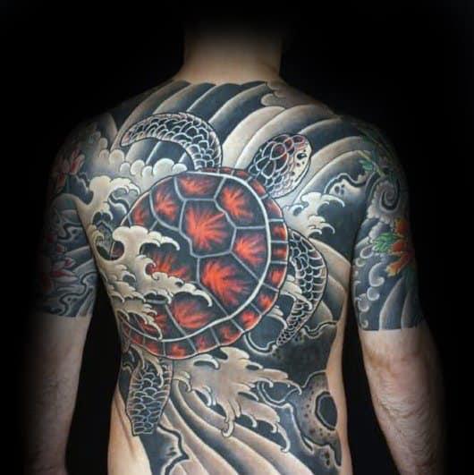 Stylish Mens Japanese Turtle Tattoos