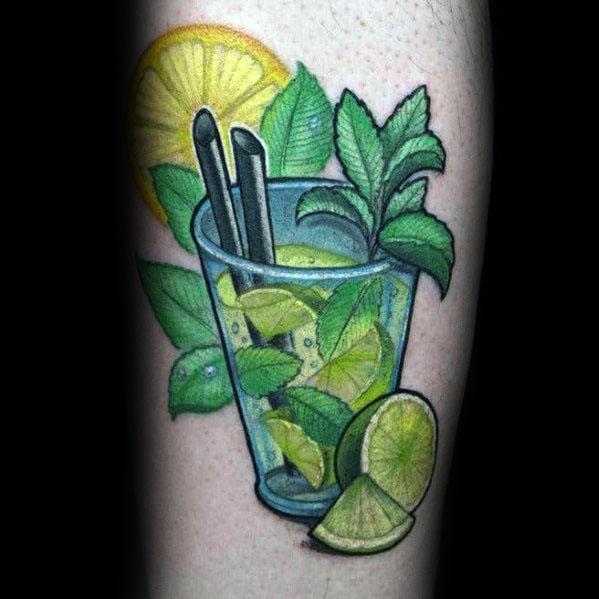Stylish Mens Lime Tattoos