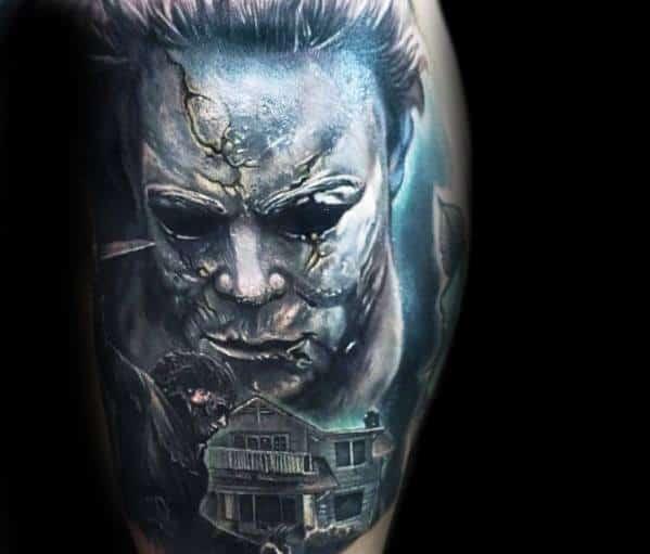 Stylish Mens Michael Myers Tattoos