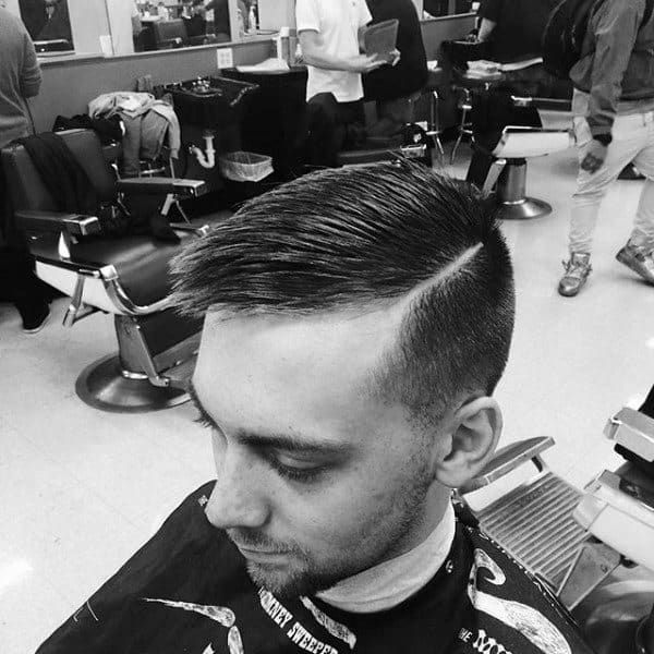 Stylish Mens Short Comb Over Haircut