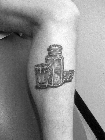 Stylish Mens Shot Glass Tattoos