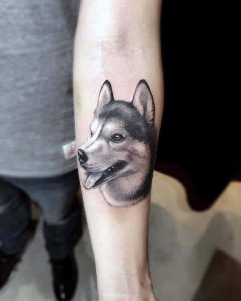 Stylish Mens Siberian Husky Tattoos