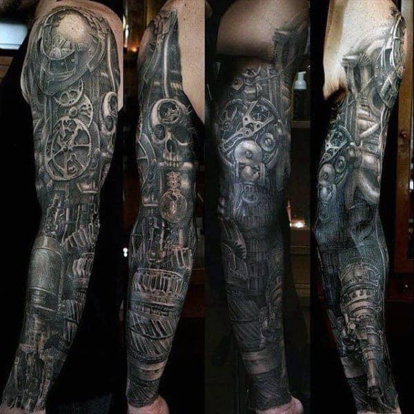 stylish-mens-skull-sleeve-tattoos