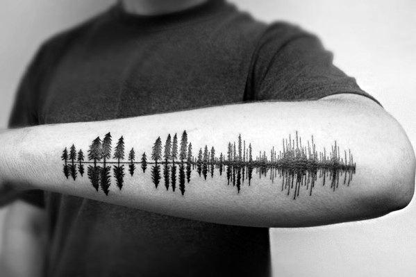 Stylish Mens Tree Line Tattoos