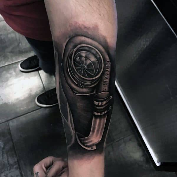 Stylish Mens Turbo Tattoos