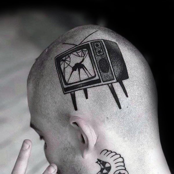 Stylish Mens Tv Tattoos