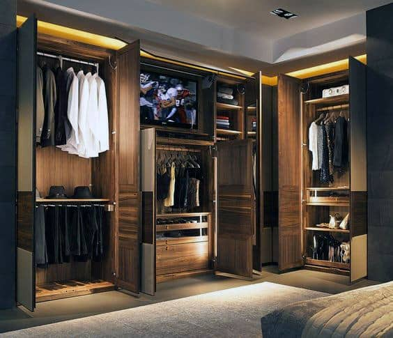 Stylish Mens Wood Closet Inspiration