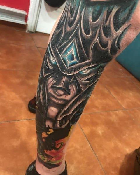 Stylish Mens World Of Warcraft Tattoos