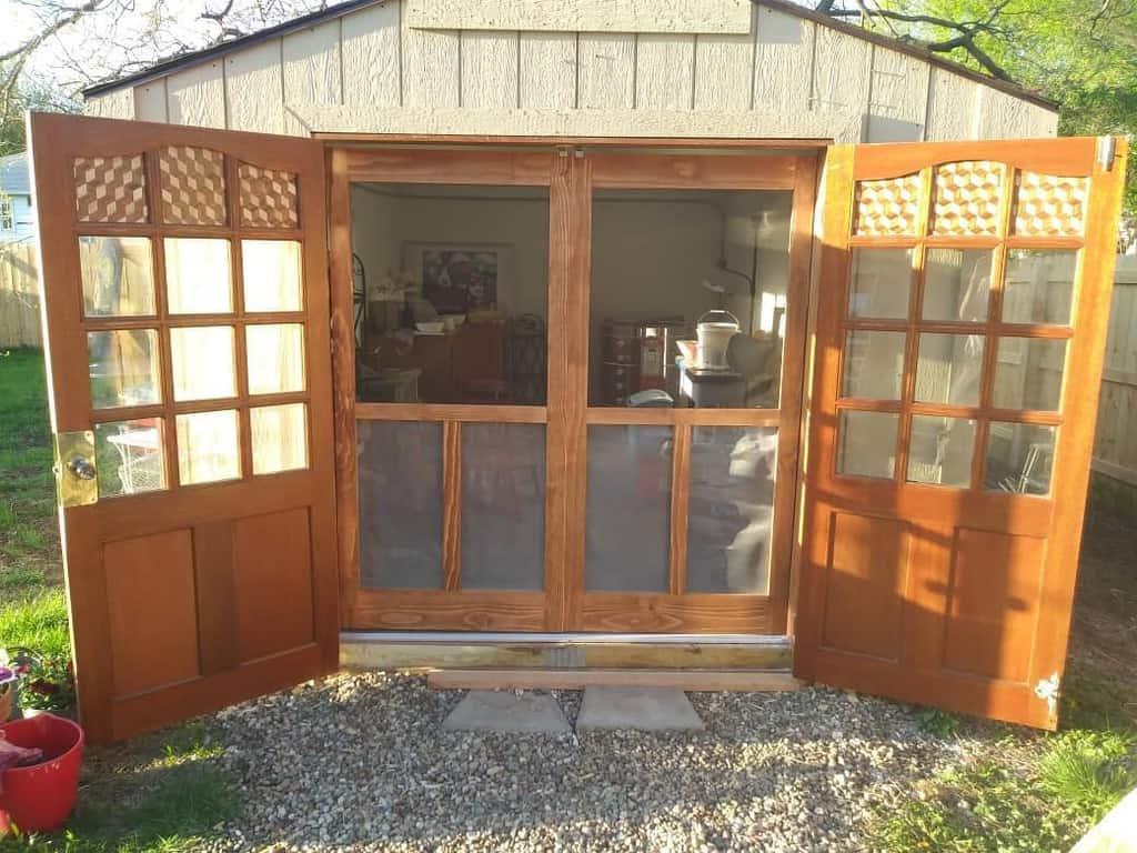 stylish shed door ideas joejoepotatopancake